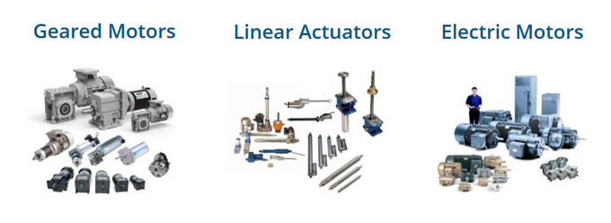 Electric Linear Actuator, Electric Motors, Variable Speed Controllers