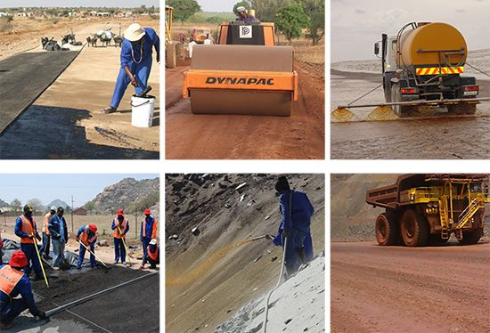 Chemical Soil Stabilisation, Chemical Soil Stabilisers, Chemical Stabilizer, Clay Soil Stabilisers, Dust Palliatives, Dust Suppression, Erosion Control, Gravel Binderl, Road Material Stabilisers, Road Stabilisation, Sand Seal, Soil Binder, Soil Densificat