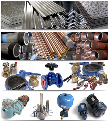 structural tube, pipes and fittings, flanges, valves, pumps, irrigation equipment, industrial hardware