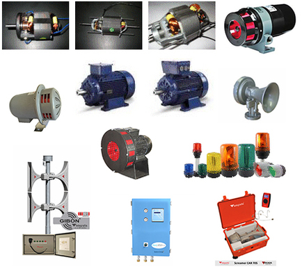 Electric Motors, Alarm Sirens, Beacon Light, Warning Lights, Carbon Brushes, Sirens, Horns, Warnings, Electronic Sirens, Emergency Horns, Warning Systems, Emergency Warning Sirens