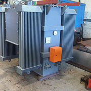 We provide a large variety of transformers, starting at 25kVA up to 20mVA depending on our customer's needs.  We design all our transformers according to customer requirements.