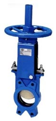 """Hydravalve offers knife gate valves in sizes of 2"""" to 24"""" with cast iron bodies, stainless steel blades and EPDM seals."""