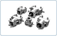 "Our bevel gearbox P Series has a compact ""monobloc"" design provides a visually attractive, quality finished, casing, produced from die-casting, in lightweight, aluminium alloy."