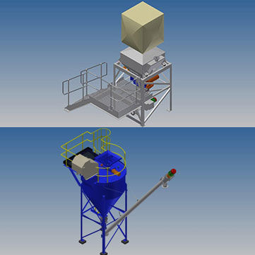 Bulk Bag Systems, Weigh Systems, Bulk Bag Unloading Stations