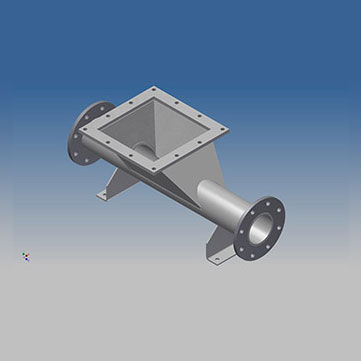 Feeding Tees, Pneumatic Conveying Feeding Tees, Pneumatic Convering Line