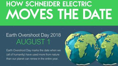 Schneider Electric: 'Let's #MoveTheDate of Earth Overshoot Day'