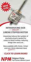 New 20mm Linear Stepper Motor now available from Nippon Pulse